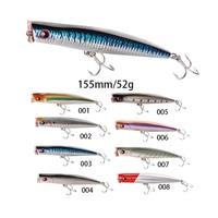 Señuelos de Pesca Noeby  grandes señuelos Popper  155mm  52g  gran Popper Crankbait  Señuelos de Pesca  8 colores|fishing wobblers|big popper|fishing lure -