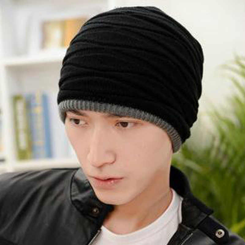 69e5b2a36c2 ... 2018 Arrival Beanies Knitted Hat Men s Winter Hats For Women Men Caps  Gorros Warm Moto Fur ...