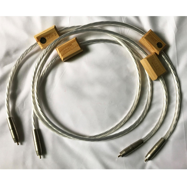 Amplificador plateado de alta gama Nordost Odin2, altavoz CD DVDplayer, referencia suprema, Cable de interconexión de Audio RCA