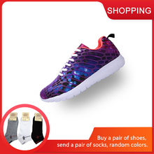 Men Women 3D Printing Run Sports Shoes for Lovers Breathable Male Sneakers Jogging Walking Comfortable