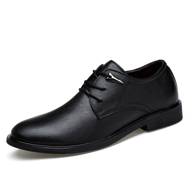 de Vestir Genuinos Antideslizantes Up Hombres Invierno de Zapatos Zapatos Cuero Goma 2017 de para Suela wxpFHqSR