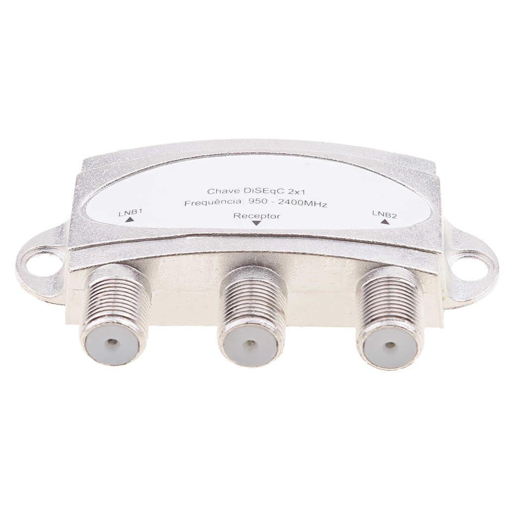 Wideband 2X1 Premium Diseqc 1.0 2.0 Model Satelliet Schakelaar Fta Schotel Lnb Lnbf Schakelaar DS-04C Voor Satellietontvanger 950-2400 (Mhz)