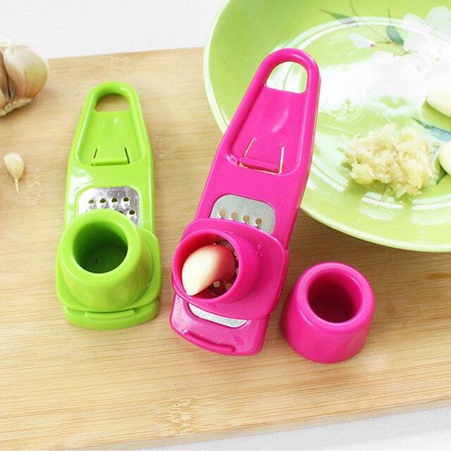 Полипропилен + нержавеющая сталь кухня Бытовая многофункциональная шлифовальная чесноковая мельница для имбиря вырезается чесночный пресс зеленый/розовый