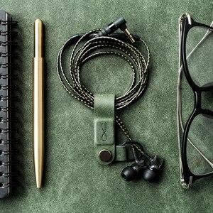 Image 4 - חם מקורי Bcase MEC מגנטי אוזניות קליפ שלושה צבעים עור אבזם אוזניות חוט ארגונית מחזיק נייד כבל