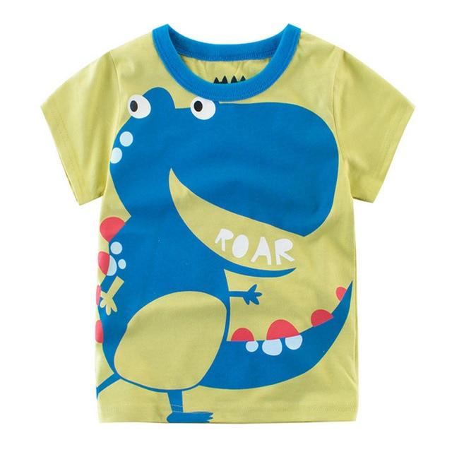 3f5d63432 100% Cotton Animal Cartoon Children boys t shirt kids Baby Printed ...