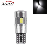 AOZBZ 10Pcs T10 W5W 168 194 SMD 5630 LED Wedge Clearance Light Side Bulb For Car Tail Lamp Side Parking Dome Door Map Light