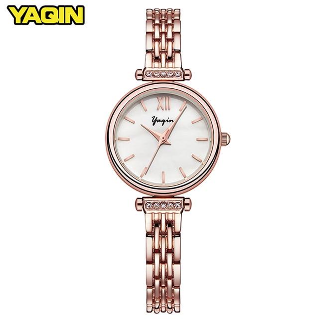 Reloj de pulsera de cuarzo de acero inoxidable ultrafino reloj para - Relojes para mujeres