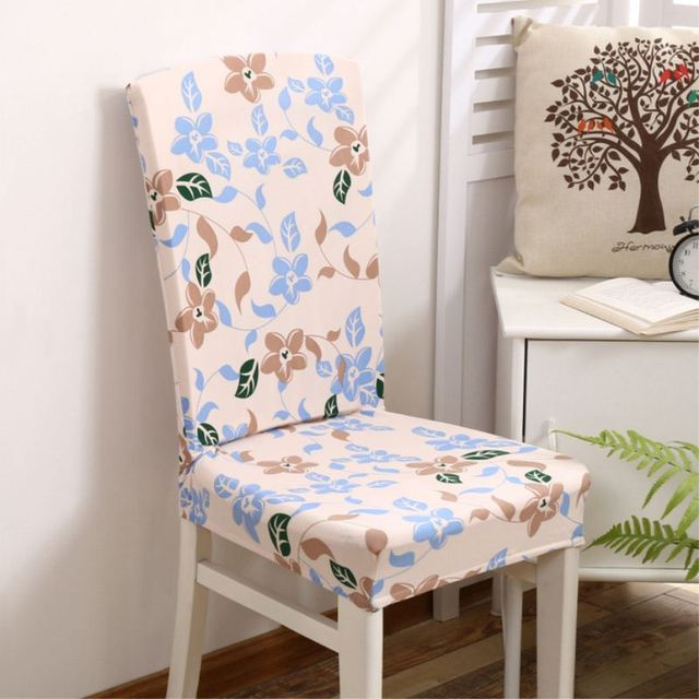 Elastic Stretch Slipcovers Dining Room Chair Seat Covers Floral Cover