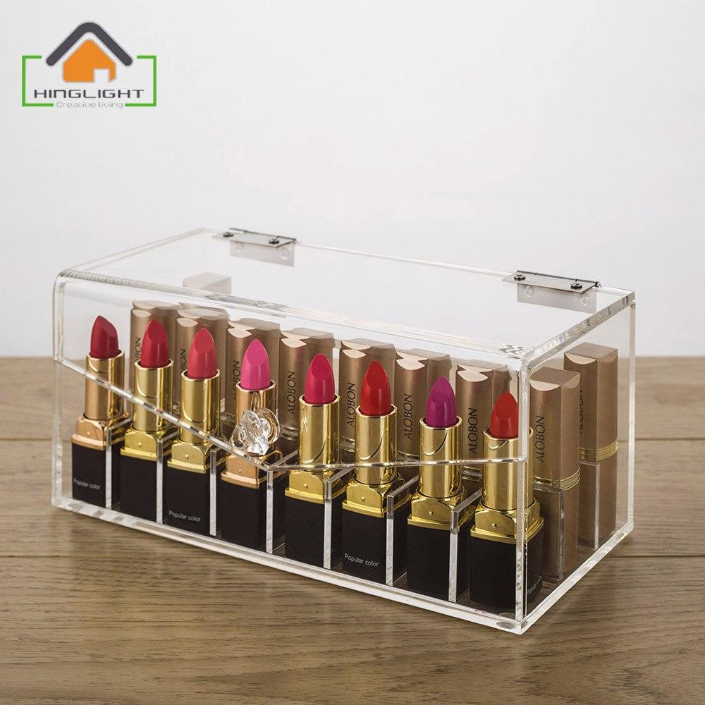 Acryl lippenstift opbergdoos partitie binnen is verwijderbare cosmetische organizer acryl make - Verwijderbare partitie ...
