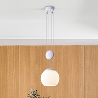 Post modern LED Lifting pendant lights for bedroom Living room Nordic glass restaurant Pendant lamp LED hanging lamps lighting