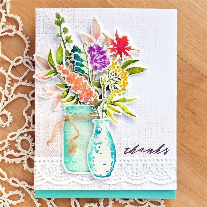 gjcrafts flower die cut stamps and dies sets for card