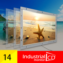 14 Inch Open Frame Resistive Screen Monitor With VGA Interface For Industrial Display /16:9 Ratio Widescreen LCD Monitor(China (Mainland))