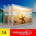 14 Polegada Estrutura Aberta Monitor de Tela Resistiva Com Interface VGA Para Monitor Industrial/16:9 Widescreen Monitor LCD