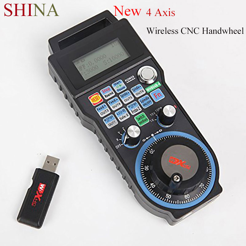 SHINA Wireless Mach3 MPG Pendant lathe Handwheel for CNC Mac.Mach 3, 4 Axis/6 Axis HandWheel Machine Tool Accessories control видеорегистратор prestigio roadrunner 585 pcdvrr585