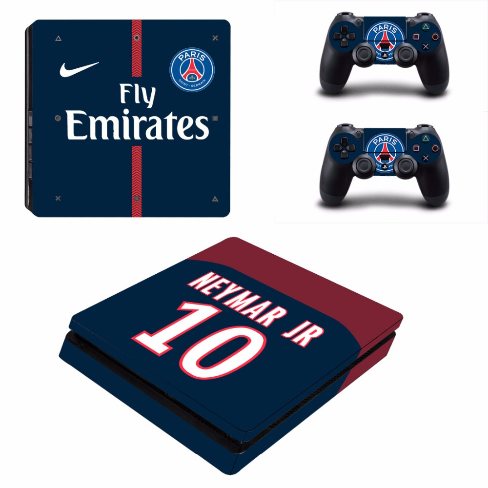 PARIS SAINT-GERMAIN PSG PS4 Slim Skin Sticker For Sony PlayStation 4 Console and 2 Controllers PS4 Slim Skin Sticker Decal 2017 new arrival all optical hd waterproof fmc film monocular telescope 10x42 binoculars for outdoor travel hunting