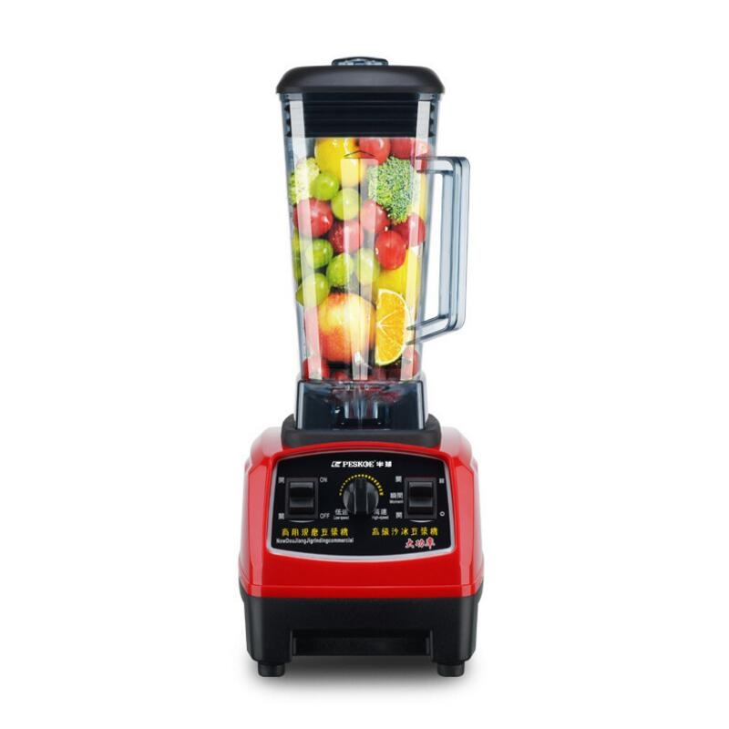 BPA Free 3HP 2000W Heavy Duty Commercial Blender Mixer Juicer High Power Food Processor Ice Smoothie Bar Fruit Electric Blender commercial blender mixer juicer power food processor smoothie bar fruit electric blender ice crusher