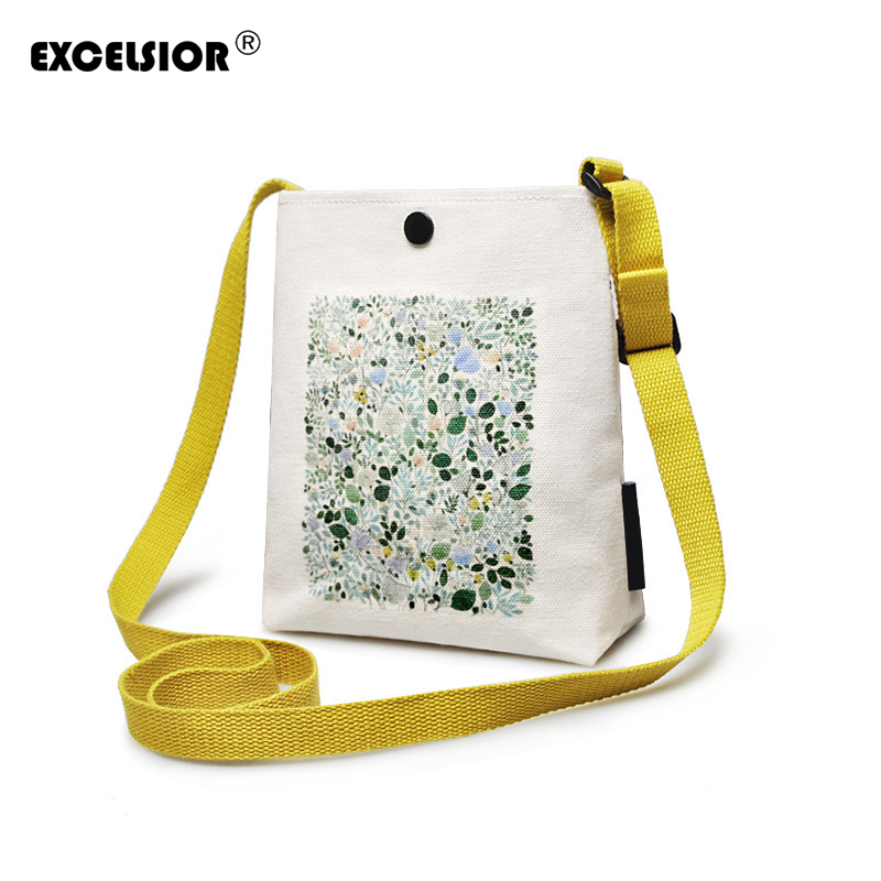 EXCELSIORL Canvas Handbag Mini single shoulder bag Crossbody Messenger bag women swagger bag Female shopping bags Bucket pack fashion women messenger bag mini handbag female shoulder bags vintage canvas tote satchels school bag small crossbody bag