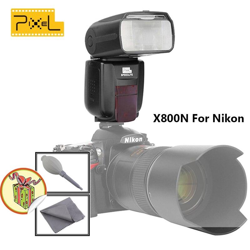 Pixel X800N Стандарт Speedlite для Nikon я-ttl Вспышка Высокоскоростной Синхронизации Вспышка Внешняя Вспышка Speedlite Поставляются с Рассеиватель X 1