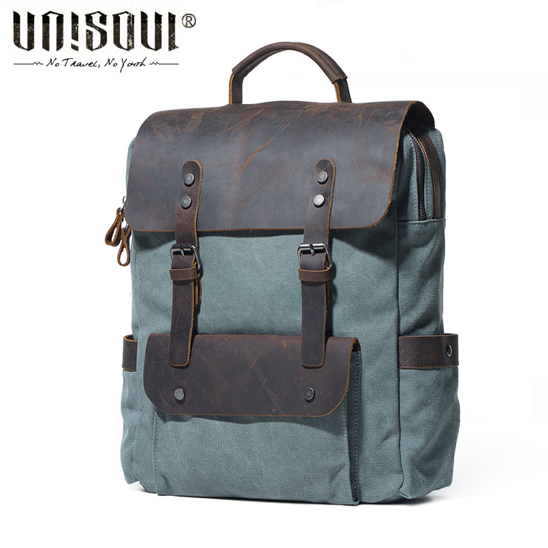 UNISOUL Fashion NEW Backpack for Teenagers Casual Rucksack Unisex Canvas Travel Daypack Backpacks School Shoulder Bag