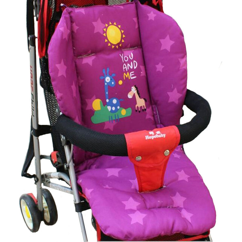 Cartoon Baby Stroller Seat Cushion Cart Stroller mattresse Pillow Cover BB Car Thermal Thicken Pad Child