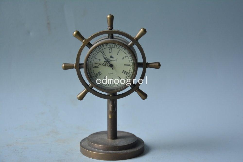 Horloge de beauté royale en cuivre de la dynastie Qing | Navire marin de 1889, travail correct, magnifiquement conçu, livraison gratuite