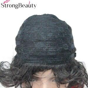 Image 5 - StrongBeauty 合成ショートカーリーウィッグ耐熱キャップレスヘアの女性のかつら