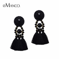 Brincos Grandes Free Shipping Emanco Assorted Drop Earrings Fashion Women S Luxurious Simulated Crystal Tassel Statement