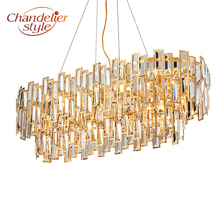 hot deal buy modern crystal chandelier lighting fixture luxury led cristal chandeliers hanging lights for home living dining room decoration