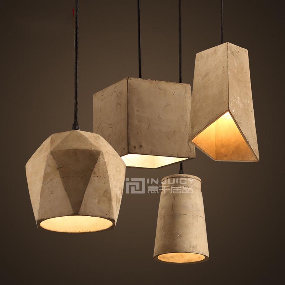 ФОТО Nordic Vintage Cement Loft Corridor Chandelier Pendant Lamp Cafe Ball Bar Store Hall Bedroom Droplight Home Decor