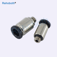 High quality mini type fittings POC 4mm 6mm ,M3 M5 1/8BSP pneumatic valve micro connectors Cylindrical hexagon socket