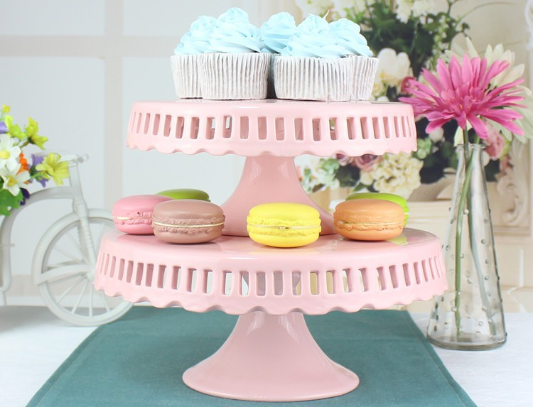 Wholesale 8 Inch 10 Inch 12 Inch Hollow Ceramic Cake Stand