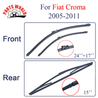 Combo Silicone Rubber Front And Rear Wiper Blades For Fiat Croma 2005 2011 Windscreen Wipers Car