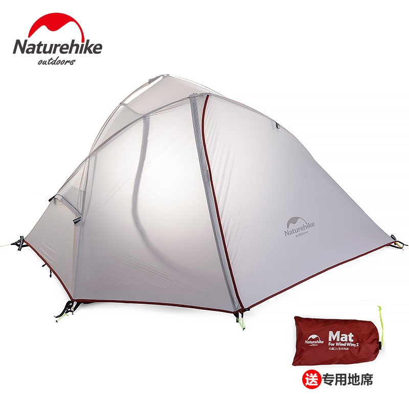 Naturehike 1 2 Person Ultralight Tent Waterproof Double layer 3 Season Single Tents Outdoor Camping Tourist Tents With Mat mobi outdoor camping equipment hiking waterproof tents high quality wigwam double layer big camping tent