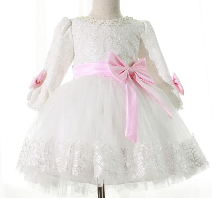 2016 Girls Christmas Dresses White Lace Baby Girl Wedding