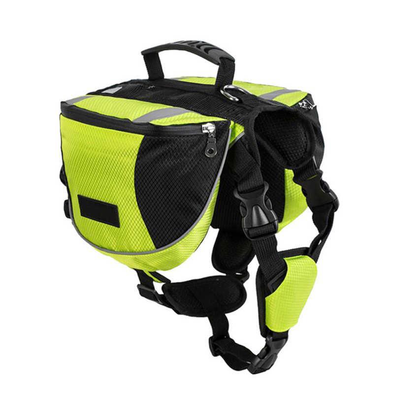 Сумка-переноска для собак, рюкзак для собак, туристический рюкзак для собак, светоотражающий, безопасный для путешествий, двойные сумки, легко управляемые
