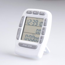 hot deal buy three channel kitchen timer, large lcd screen kitchen timer, digital kitchen timer, free shipping