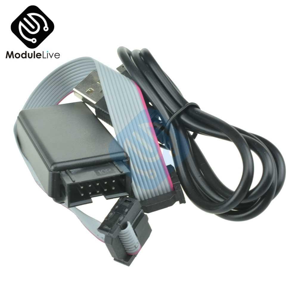 1 pces smartrf04eb cc1110 cc2530 zigbee downloader emulador usb zigbee mcu m100 módulo