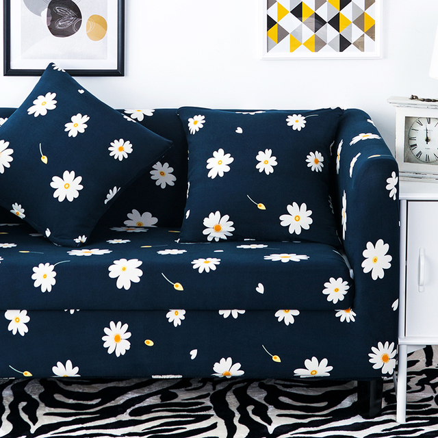 Daisy Printed Sofa Covers One Piece Elastic Cover Furniture Covers For Sofa  Slipcovers Custom Made Sofa
