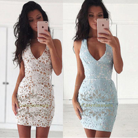 Fit & Flare V Neck Above Knee Length Lace Little Dress Cocktail Party Dress with Ruched Mini Sexy Style
