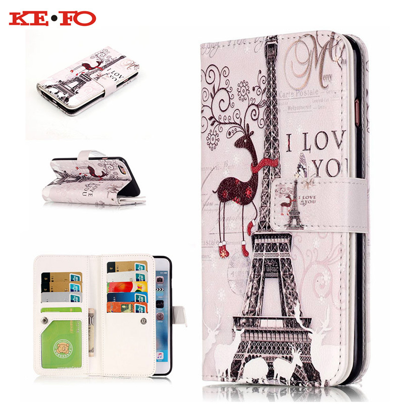 Multifunction 9 Card Holder Leather Wallet <font><b>Case</b></font> For Iphone 5S SE 6 6S 7 Plus For Samsung Galaxy S3 S4 <font><b>S5</b></font> S6 S7 Edge Note 5