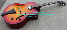 free shipping new 6 strings hollow electric guitar in orange for jazz music made in China LL7