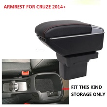 BIGGER SPACE&LUXURY Car armrest box central Storage content box with cup holder &LED suitable for  CRUZE 2014 2015 CRUZE ARMREST