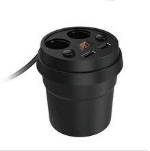 5 v 3.1A Portas USB Dupla USB Carregador de carro Auto Isqueiro Carregador de Carro Copo de Exibição Atual Tensão de Carregamento com 2 soquetes