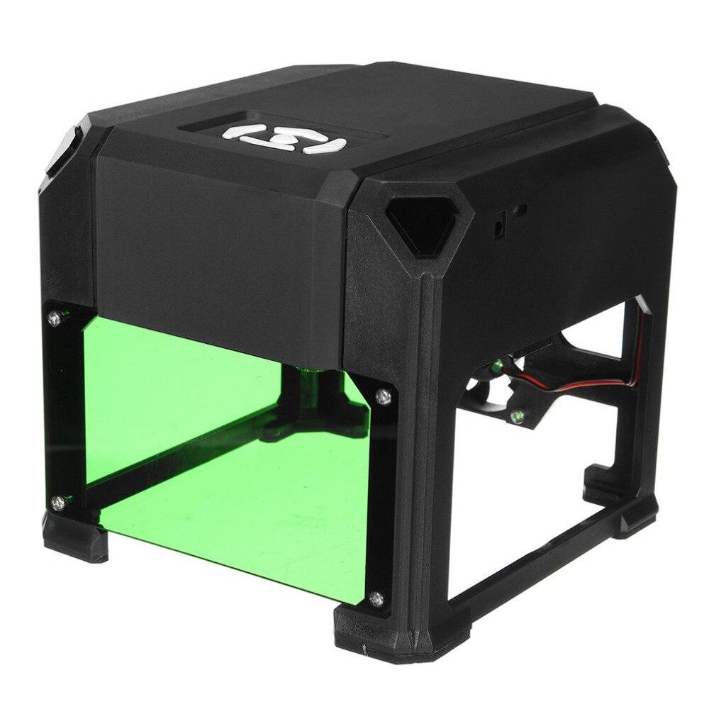 1500 mW USB Laser Graveur DIY Logo Marque Imprimante Cutter Carver Gravure Laser Sculpture Machine Usage Domestique Pour Surface Plane 80x80mm