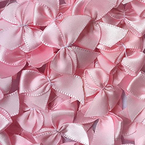 60pcs Mini Satin Ribbon Bows Flowers 1