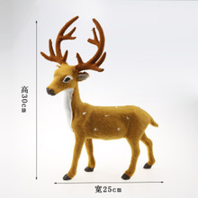 Creative Christmas Deer Scene Arrangement Props Christmas Elk Plush Simulation for decorations of festivals, parties, Holidays