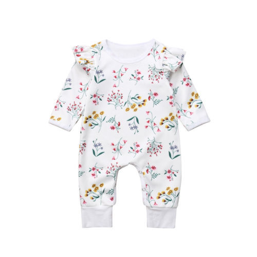 70021a9bb36d0 Aliexpress.com : Buy Newborn Baby Girls Clothing Floral Long Sleeve Romper  Cotton Floral Cute Jumpsuit Clothes Outfit Baby Girl 0 24M from Reliable ...
