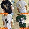 Animated cartoon advancing Titans short sleeve t-shirt  summer Wings of Liberty Jiyuu no Tsubasa symbol clothing Japan Animation