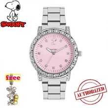 Snoopy women watches genuine Bling Rhinestone Luxury steel Quartz Watch Women Clock female Ladies Dress Wristwatch Gift mujer