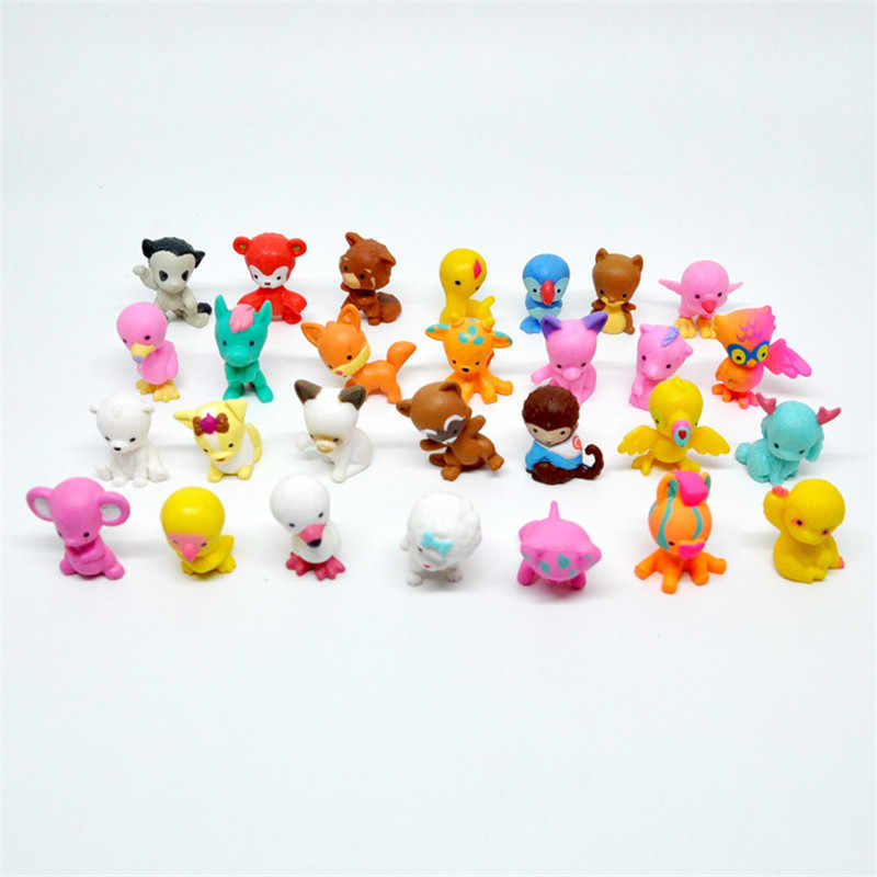 10 pcs/pack Cute Cartoon Animal Little Decoration Action FiguresToys For Children  Mini Toy Animal Car Room display Decoration